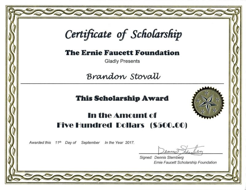 Scholarship award certificate for District award of merit certificate template
